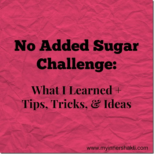No Added Sugar Challenge