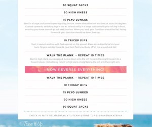 Total Body Toner workout graphic from Tone It Up