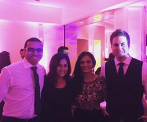 Friends at an Indian wedding