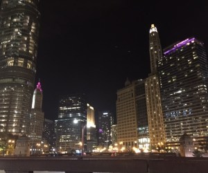 City of Chicago skyline at night