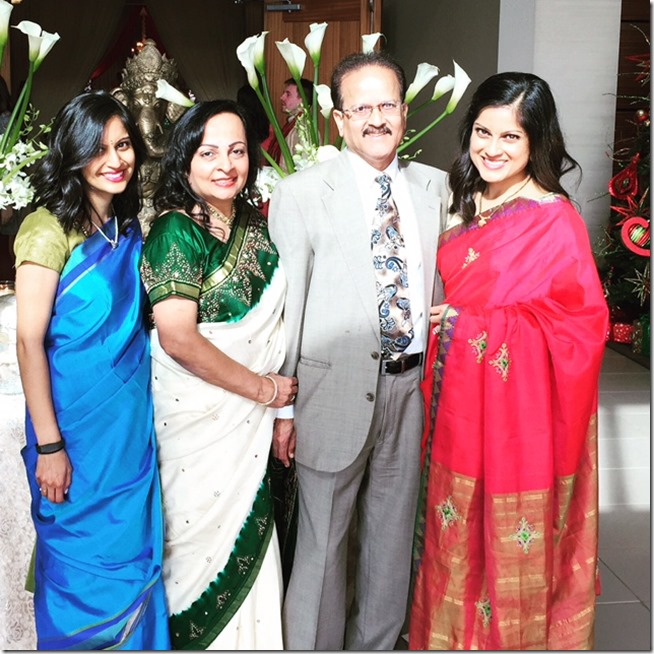 Family picture at an Indian wedding