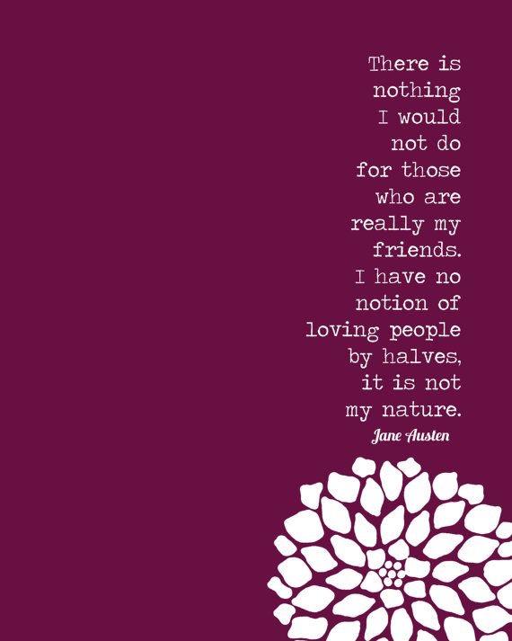 Jane Austen friendship quote