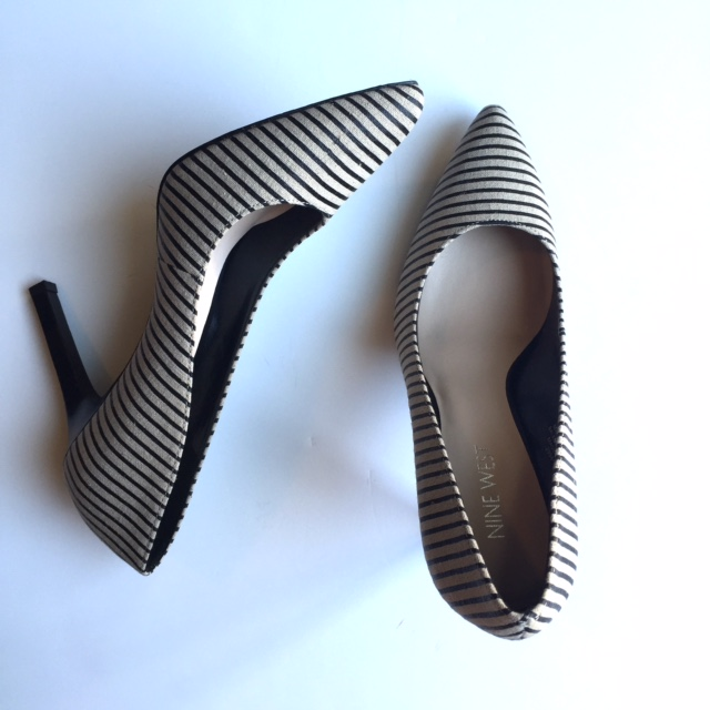 Nine West stripped heels