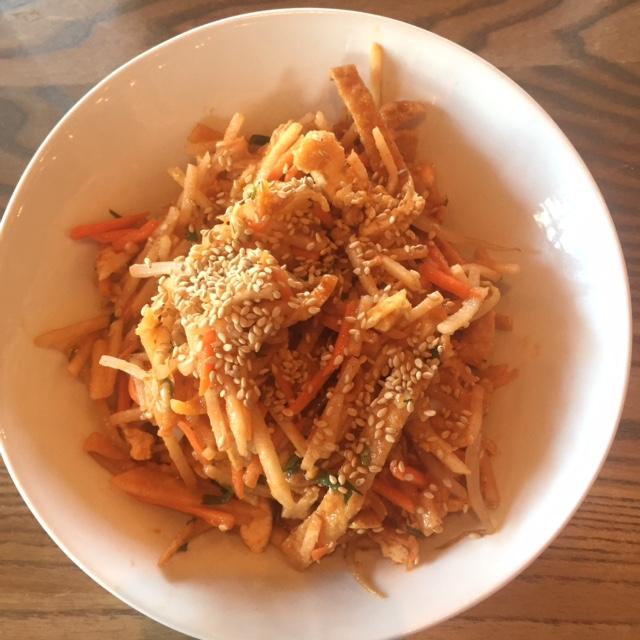 Jicama and Tofu Salad - Hawkers restaurant - St. Petersburg, FL