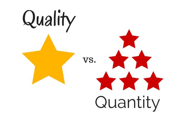 Quality vs Quantity