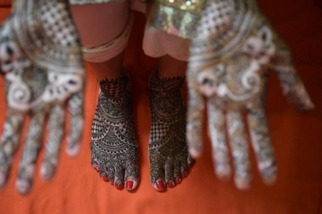 Indian bridal henna