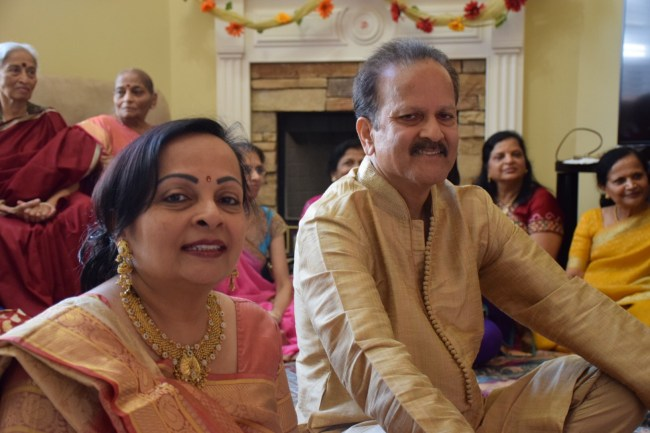 Parents at Hindu vidhi ceremony