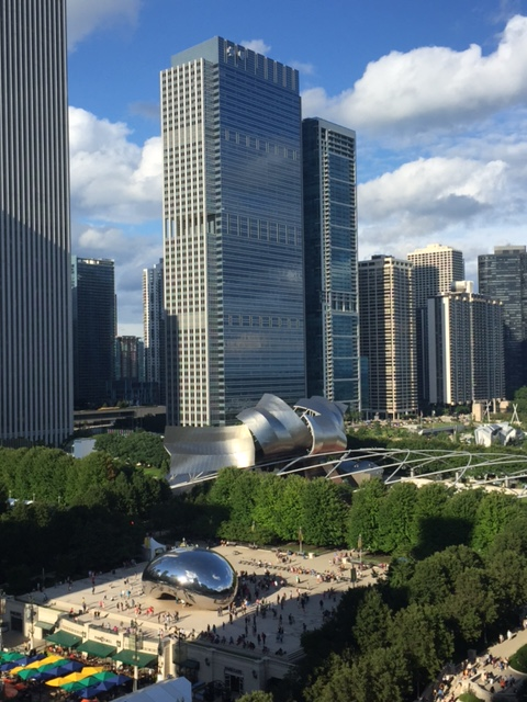View of Chicago from Cindy's rooftop bar
