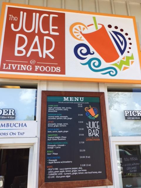 The Juice Bar at Living Foods - Kauai, Hawaii
