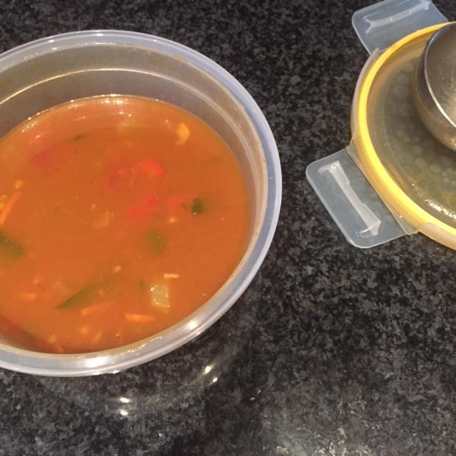 A Healthy Slide of Life - Vegetable Lentil Soup