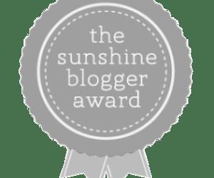 The Sunshine Blogger Award badge