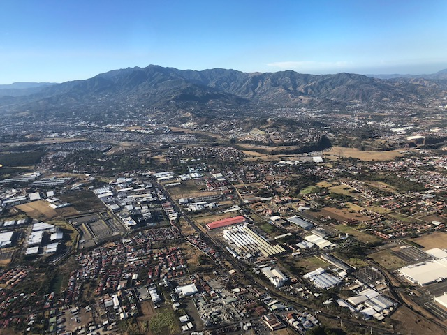 Ariel view of San Jose, Costa Rica