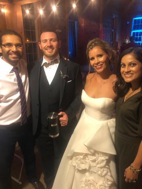 Cara and AJ wedding reception
