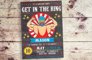 Lucha Libre Invitation