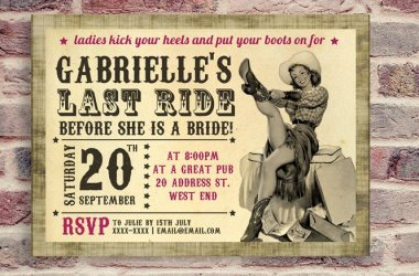 Country Bachelorette Party Invitation