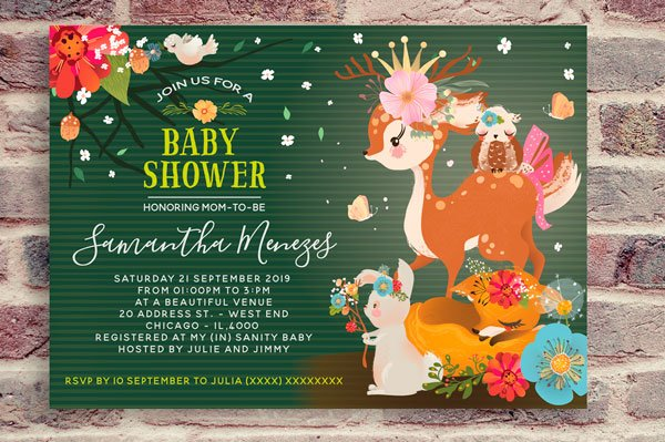 Enchanted forest baby shower