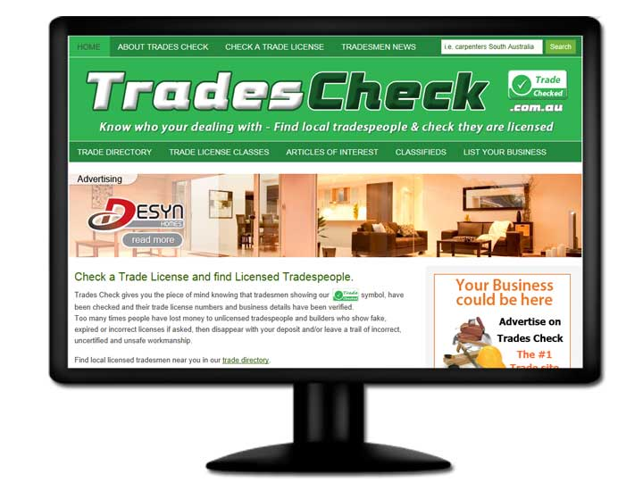 Read about the website design for Trades Check