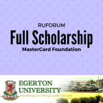 The Mastercard Foundation and RUFORUM Scholarship Award 2017/2018