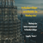 Malaysia International (Government) Scholarships