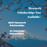 MEXT Research Scholarships