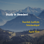 Swedish Institute Master's Scholarships