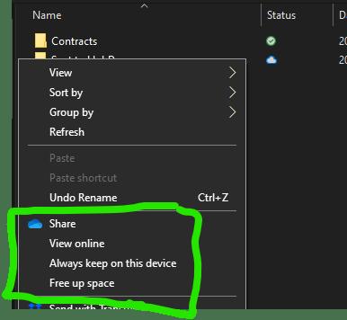 OneDrive Always keep on device