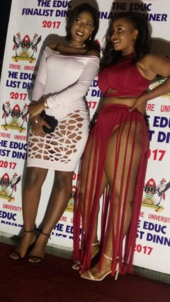Uganda student attend event half naked