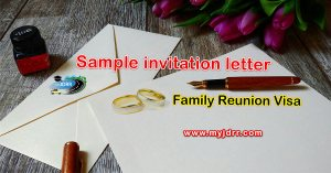 Family Reunion Visa – Sample Invitation letter