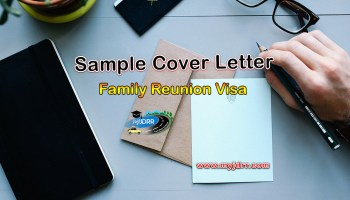 Family Reunion Visa – Sample cover letter