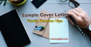 Family Reunion Visa – Sample cover letter