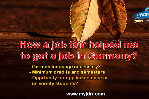 How a job fair helped me to get a job in Germany