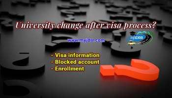 University change after visa process
