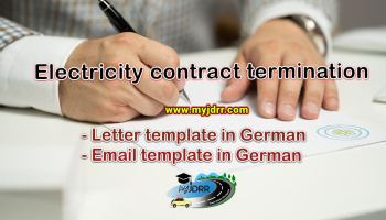 Electricity contract termination - Letter & Email template in German