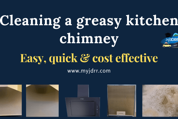 Cleaning a greasy kitchen chimney - Easy, quick & cost-effective