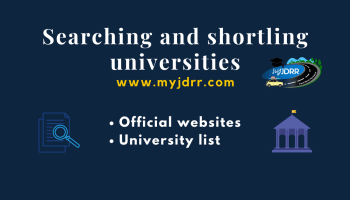 Searching and shortlisting the universities
