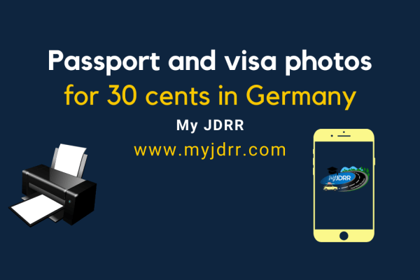 Passport and visa photos for 30 cents in Germany