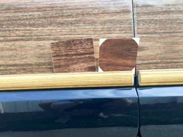 replacement Jeep Grand Wagoneer wood grain samples from Team Grand Wagoneer