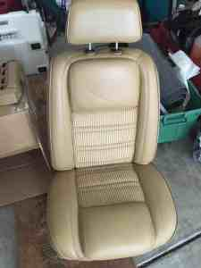 Refinished Leather Seats #wagoneer #jeep