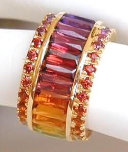 Custom Gemstone Eternity Bands GR 4018