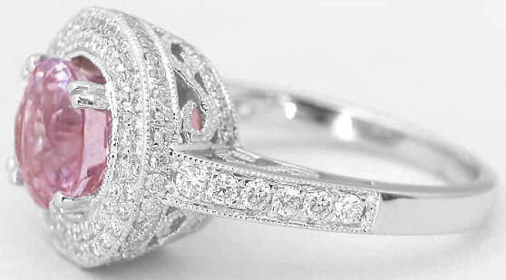 Double Diamond Halo Engagement Ring With Round Light Baby
