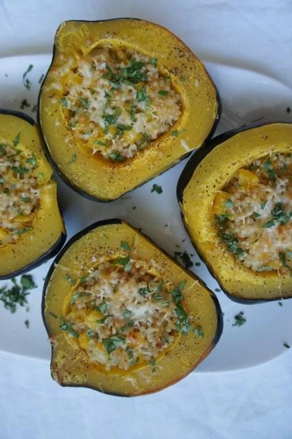 Israeli Couscous Stuffed Acorn Squash | The Nosher