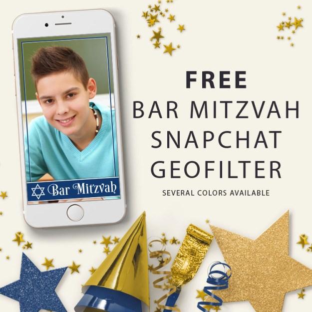 free Bar Mitzvah Snapchat geofilter