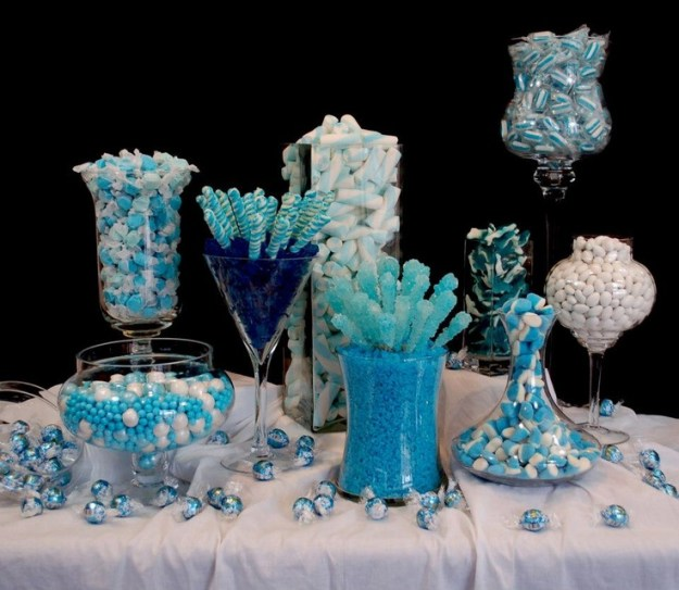 blue winter candy buffet