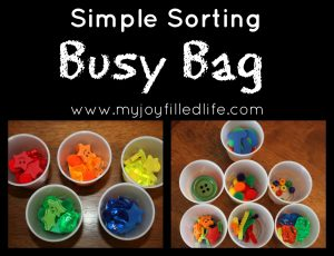 Sorting {a busy bag}