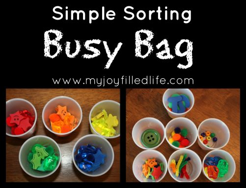 Simple sorting busy bag