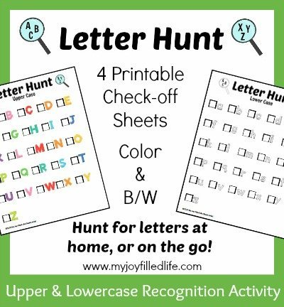 Letter Hunt Graphic