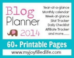 Blog Planner 2014 250