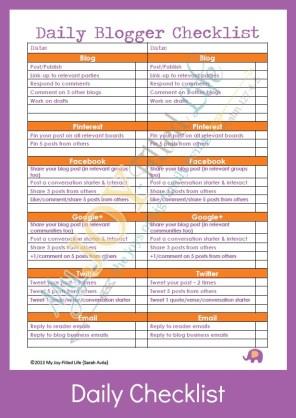 FREE 2014 Blog Planner