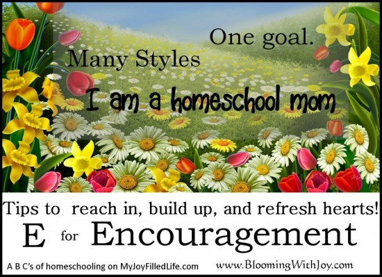 E is for encouragment