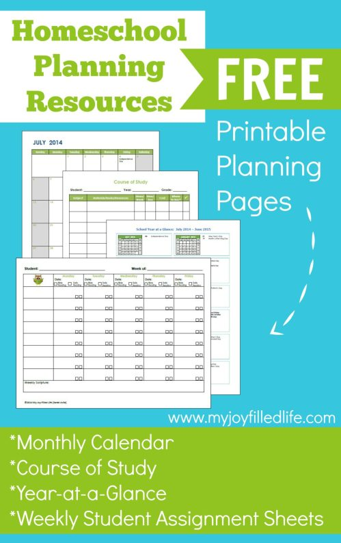 Homeschool Planning Resources